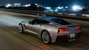 Corvette night drive