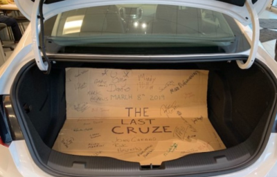 Final Chevy Cruze at Auction