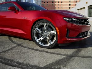 2020 Chevy Camaro in red